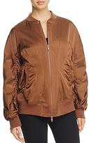 Donna Karan Ruched Bomber Jacket