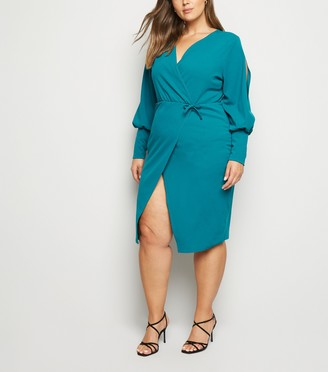 New Look Just Curvy Split Sleeve Wrap Dress