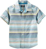 Osh Kosh Toddler Boy Stripe Short-Sleeved Woven Top