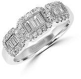 Effy 14K White Gold Baguette Diamond Ring