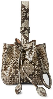 Alaia Mini Rose-Marie Python Bracelet Bag