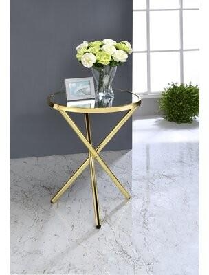 Mercer41 Sammie End Table Color: Gold