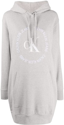 Calvin Klein Jeans Hooded Logo Jumper Dress