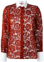 Valentino floral lace effect shirt