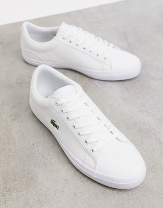 Lacoste lerond sneakers in white canvas