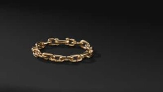 David Yurman Chain Link Bold Bracelet In 18K Gold