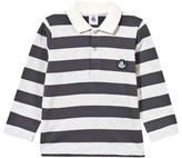Petit Bateau Grey Stripe Jersey Polo