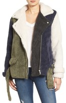 J.o.a. Women's Faux Shearling Moto Jacket