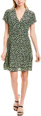 Derek Lam 10 Crosby Grommet Silk-Blend A-Line Dress