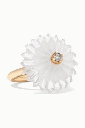 Alice Cicolini Summer Snow 9-karat Gold Multi-stone Ring - 6