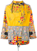Herno print panel hooded jacket - women - Cotton - 40