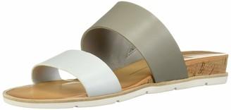 Dolce Vita Women's VALA Wedge Sandal Grey/Multi Leather 6 M US