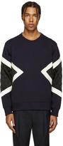 Neil Barrett Blue & Black Modernist Pullover