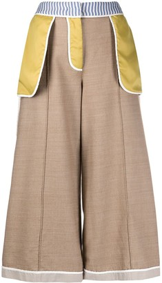 Moschino Reverse Detail Cropped Trousers