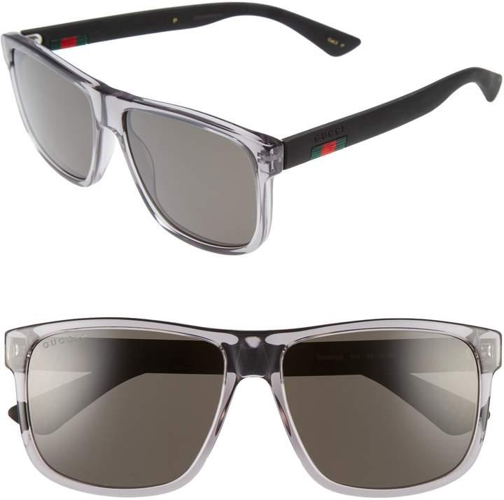 Gucci 58mm Polarized Sunglasses