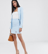 Fashion Union Tall linen mini skirt with split co-ord