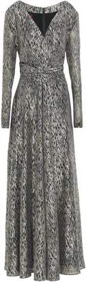 Talbot Runhof Wrap-effect Metallic Jacquard Gown