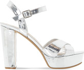 Dune Mexico metallic platform sandals
