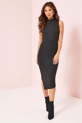 Lipsy Asymmetric Hem Dress - 6 - Grey