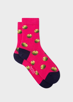 Paul Smith Women's Pink 'Green Apple' Socks