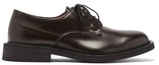 Bottega Veneta Panelled Leather Derby Shoes - Brown