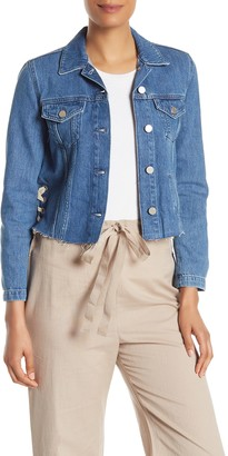 French Connection Lace-Up Side Denim Jacket
