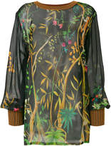 Alberta Ferretti jungle print crew neck top