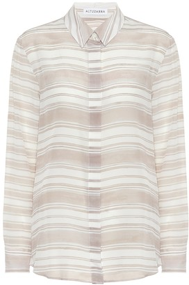 Altuzarra Chika striped silk shirt