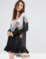One Teaspoon Exclusive Tie Dye Smock Dress