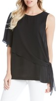 Karen Kane Women's Side Tie Asymmetrical Top