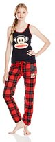 Paul Frank Women's Julius Academy Red Plaid Pajama Set
