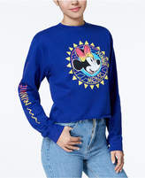 Freeze 24-7 Juniors' Cotton Minnie-Mouse-Graphic Sweatshirt