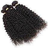 Vinsteen Top Quality Brazilian Kinky Curly Virgin Hair Brazilian Curly Weave Human Hair Wet and Wavy Soft Brazilian Kinky Curly Shedding Free Hair (24 26 28 28)