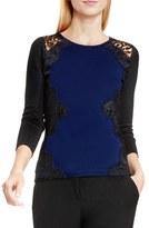 Vince Camuto Petite Women's Side Lace Trim Sweater