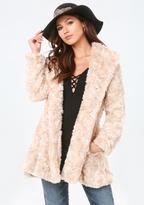 Bebe Faux Fur Swing Coat