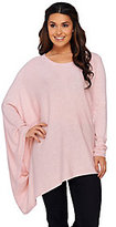 As Is H by Halston Crew Neck Pullover Sweater Poncho