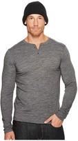 Royal Robbins Merinolux Henley (Charcoal) Men's Long Sleeve Pullover