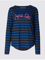 M&S Collection Apres Ski Striped Long Sleeve T-Shirt