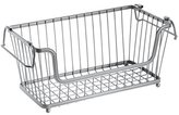 InterDesign York Lyra Open Basket, Silver