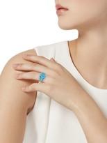 Effy 14K White Gold, Blue Topaz & Diamond Three-Stone Ring
