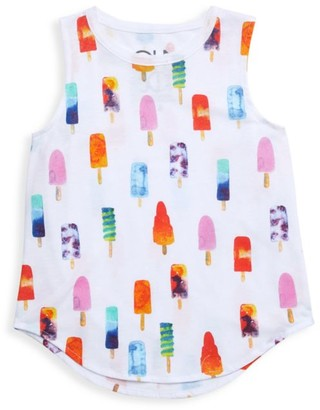 Chaser Little Girl's Popsicles Jersey Tank Top