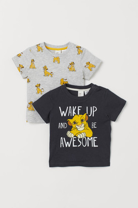 H&M 2-pack printed T-shirts