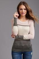 Dynamite Metallic Colorblock Sweater