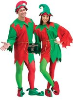 Fun World Costumes Men's Adult Promotional Elf Set. Hat Tunic Shoes