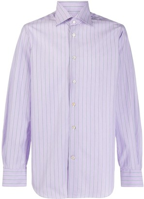 Kiton Striped Long-Sleeve Shirt