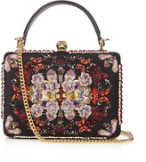 Alexander McQueen Butterfly embroidered satin box bag