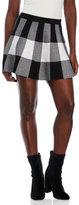 Kling Check Knit Skater Skirt