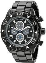 Akribos XXIV Men's AK814BK Chronograph Quartz Movement Watch with Black Dial and Bracelet