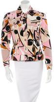 Emilio Pucci Abstract Print Corduroy Jacket
