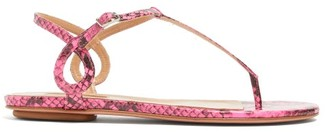 Aquazzura Almost Bare Elaphe Sandals - Womens - Pink